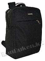 Рюкзак для ноутбука черный с металлической ручкой