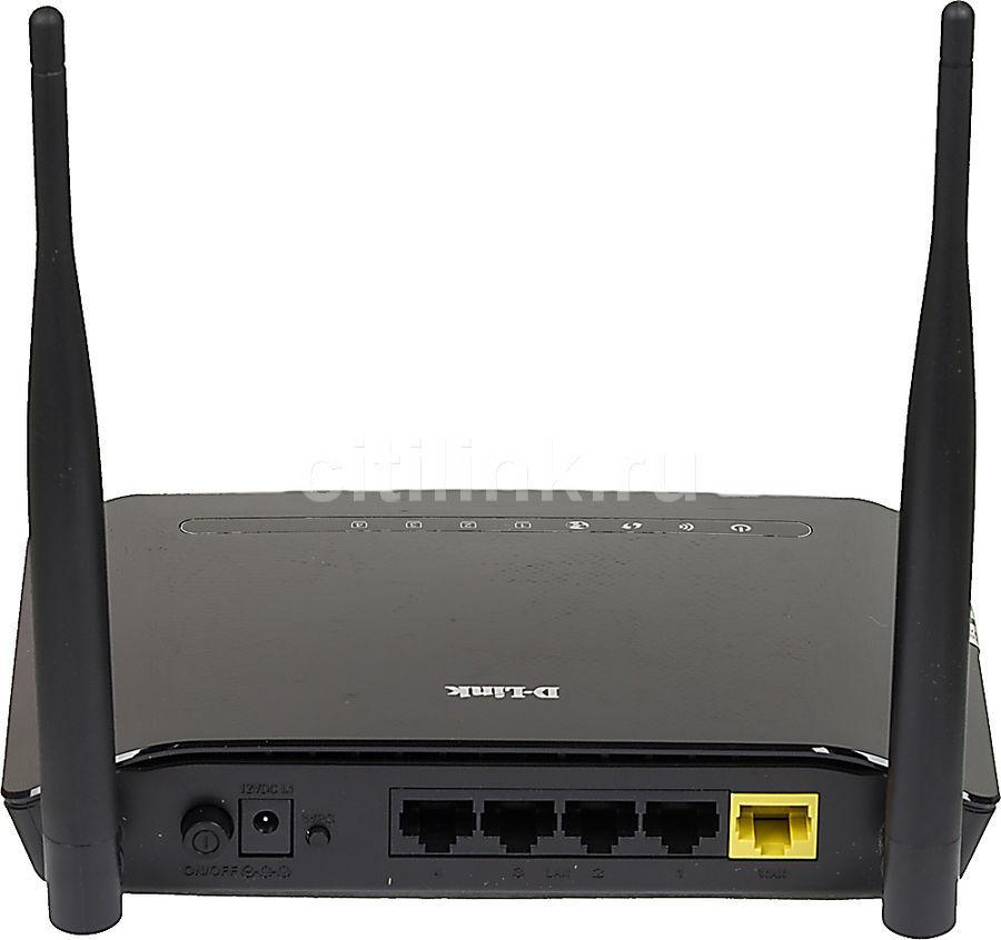 Маршрутизатор, D-Link, DIR-615S/A1A, 300М, 1 WAN порт 10/100М + 4 LAN порта 10/100М