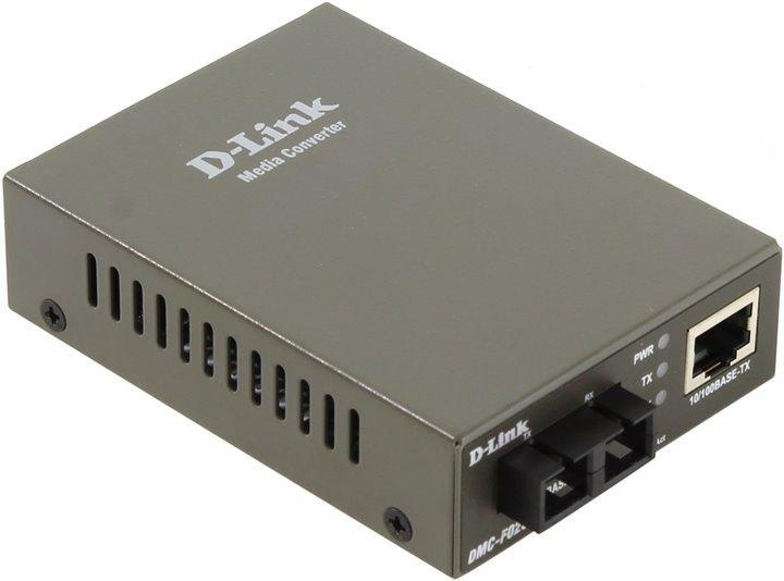 Медиаконвертер D-Link DMC-F02SC/A1A из 100BASE-TX по витой паре в 100BASE-FX по многомодовому волокну (2км,