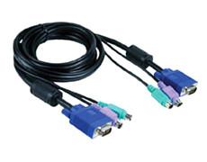 Кабель D-Link KVM для подключения клавиатуры, мыши и монитора  1,8м