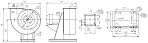Вентилятор радиальный для дымоудаления ВР 85-77-4-ДУ; ВР 85-77-4-ВДУ, фото 3