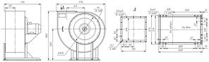 Вентилятор радиальный для дымоудаления ВР 85-77-10-ДУ; ВР 85-77-10-ВДУ, фото 3