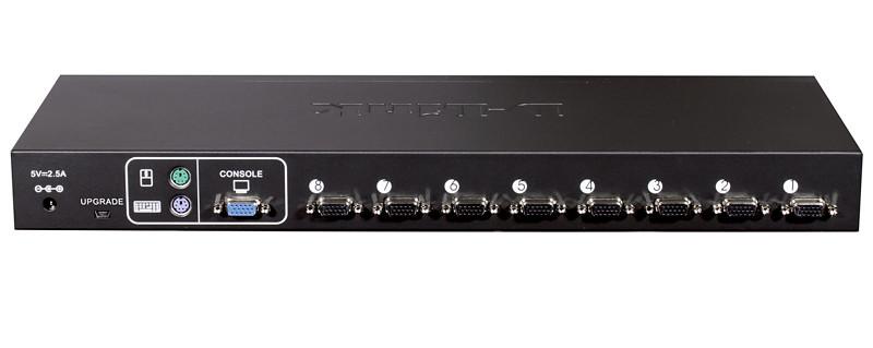 8-х портовый переключатель D-Link KVM с портами PS/2 и USB, предназначенный для управления 8 компьютерами,