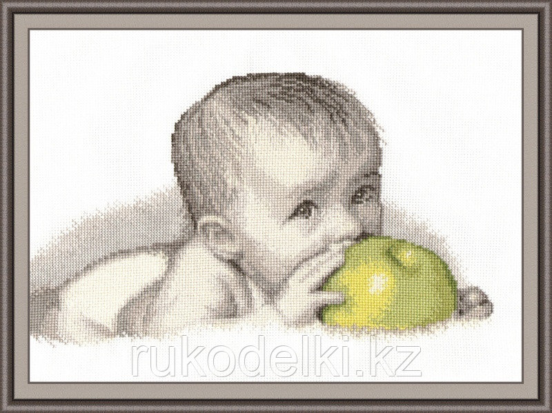 """Набор для вышивания крестом """"Малыш с яблоком"""""""