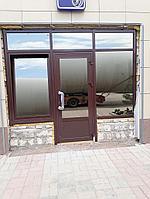 Алюминиевые двери теплые