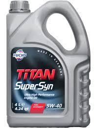 Моторное масло TITAN SUPERSYN 5w40 4 литра