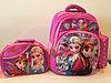Школьный рюкзак для девочек с1-го по 3-й класс.Тройка.Высота 38см,длина 27см,ширина 18см.