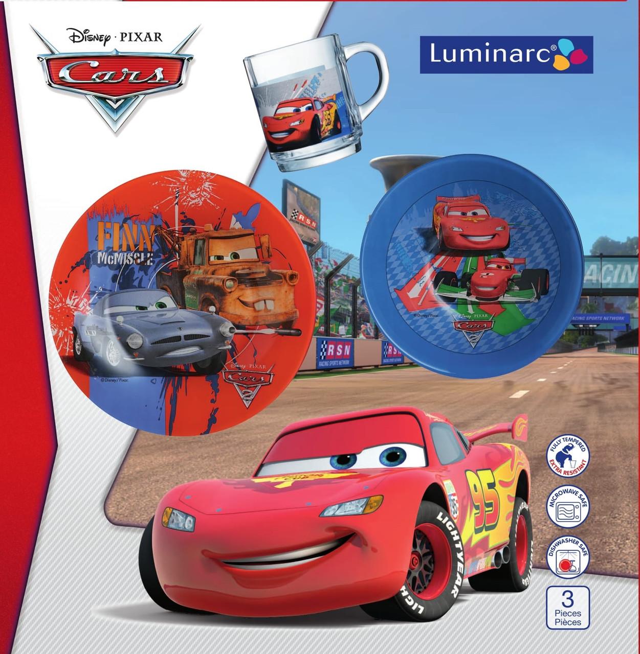 Детский Набор Luminarc Disney Cars 2 ТАЧКИ  (3 пр.)