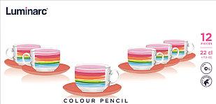 Чайный сервиз Luminarc Color Pencil (12 пр.)