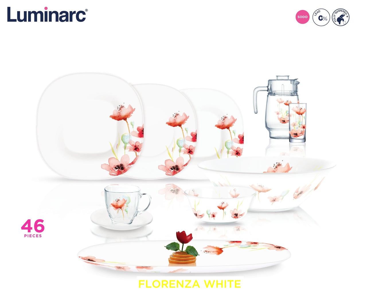 Столовый сервиз Luminarc Florenza White 46 предметов