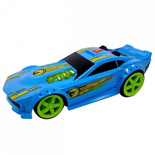 Hot Wheels HW91622 Машинка Хот вилс на батарейках свет+звук, синяя 32,5 см