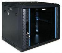 """Шкаф стандартный сетевой 19"""" 22U 600*1000*1166 цвет черный, передняя дверь стеклянная(тонированная),"""