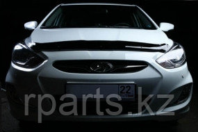 Мухобойка (дефлектор капота) Hyundai Accent