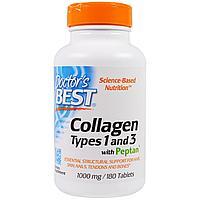 Лучший коллаген 1 и 3 типа, 1000 мг.в 1 таблетке, 180 таблеток   Doctor's Best