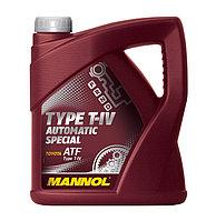 Трансмиссионное масло MANNOL ATF T-IV Automatic Special 4 литра
