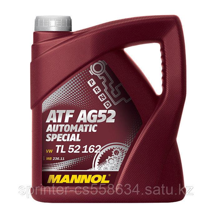 Трансмиссионное масло MANNOL ATF AG 52 Automatic Special 4 литра