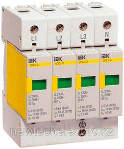 Разрядник ОПС1-D 4Р Ограничитель импульсного перенапряжения MOP20-4-D IEK