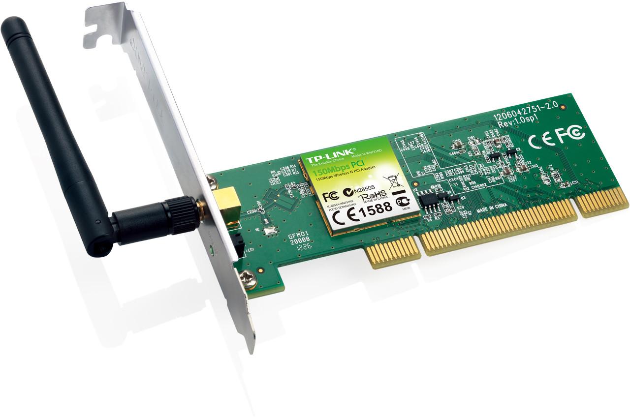 Беспроводной сетевой адаптер D-Link серии N на базе шины PCI со скоростью передачи данных до 150 Мбит/с