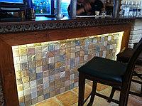 Плиточная мозаика из натурального камня, 295х295 мм
