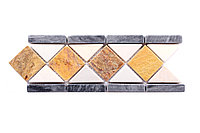 Плиточная мозаика из натурального камня, 300x100 мм