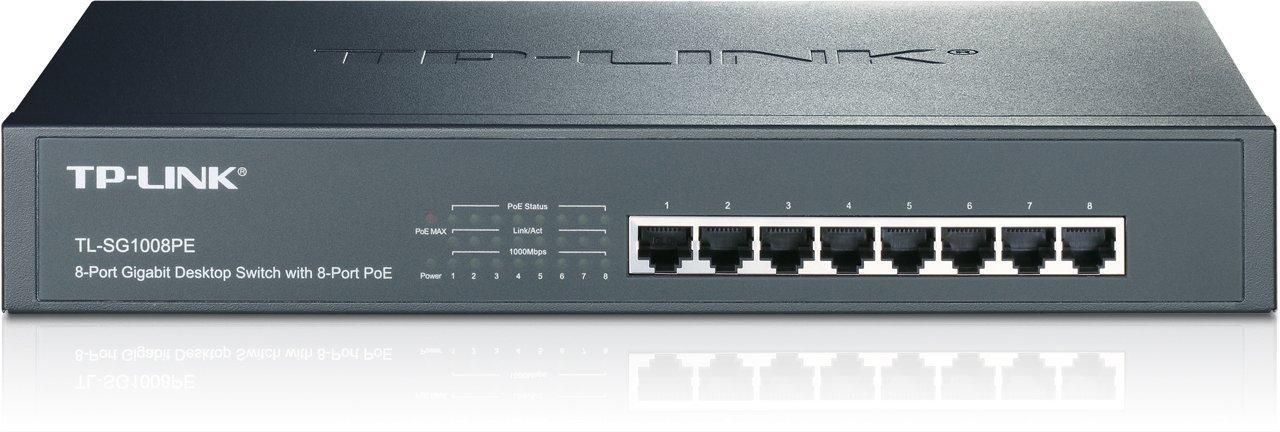 Коммутатор TP-Link 8 портов 10/100/1000 Мбит/с (разъем RJ45)