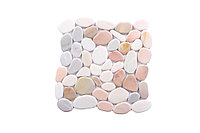 Плиточная мозаика из натурального камня, 355x355 мм