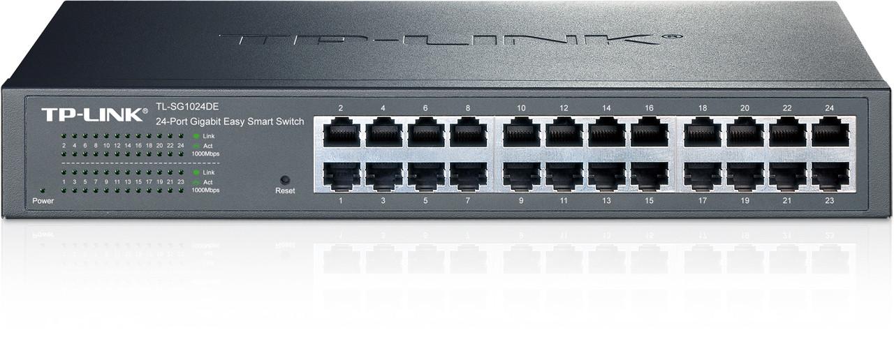Коммутатор TP-Link 24 порта 10/100/1000 Мбит/с (разъем RJ45)