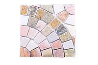 Плиточная мозаика из натурального камня, 375x375 мм
