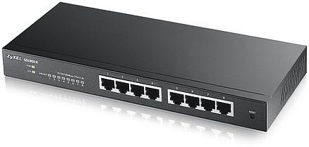 Интеллектуальный коммутатор Zyxel Gigabit Ethernet с 8 разъемами RJ-45