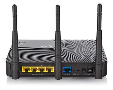 Интернет-центр Zyxel для выделенной линии Gigabit Ethernet, с двухдиапазонной 2,4 и 5 ГГц