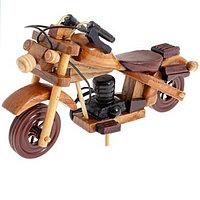 Ретро мотоцикл , Размер  4 см × 16,5 см × 11 см, дерево