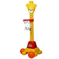 Кольцо для баскетбола с ростомером Жираф Edu-Play, фото 1