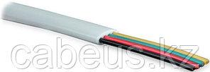 Hyperline UTC2x2x0.12-C2-PATCH-INDOOR (TC-4-WH) Кабель телефонный, плоский, 4 провода, многожильный, белый