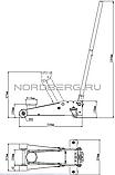 Домкрат подкатной, г/п 2,5 тонны NORDBERG ECO N32025L, фото 3