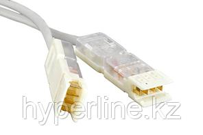 Hyperline PC-110-110-2P-C5-2M-GY Патч-корд 110 тип-110 тип, 2 пары, Cat.5, 2 м, серый