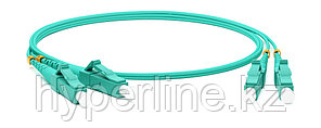 Hyperline FC-D2-503-LC/PR-LC/PR-H-1M-PVC-AQ Патч-корд волоконно-оптический (шнур) MM 50/125(OM3), LC-LC,