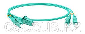 Hyperline FC-D2-503-LC/PR-LC/PR-H-1M-LSZH-AQ Патч-корд волоконно-оптический (шнур) MM 50/125(OM3), LC-LC,