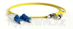 Hyperline FC-D2-9-LC/UR-ST/UR-H-2M-LSZH-YL Патч-корд волоконно-оптический (шнур) SM 9/125 (OS2),