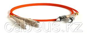 Hyperline FC-D2-62-SC/PR-ST/PR-H-1M-LSZH-OR Патч-корд волоконно-оптический (шнур) MM 62.5/125, ST-SC, 2.0 мм,
