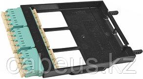 Siemon LS-LC12-01C-AQ Ligth Stack Панель LC, 12 волокон, многомод, цвет адаптеров аква, черная