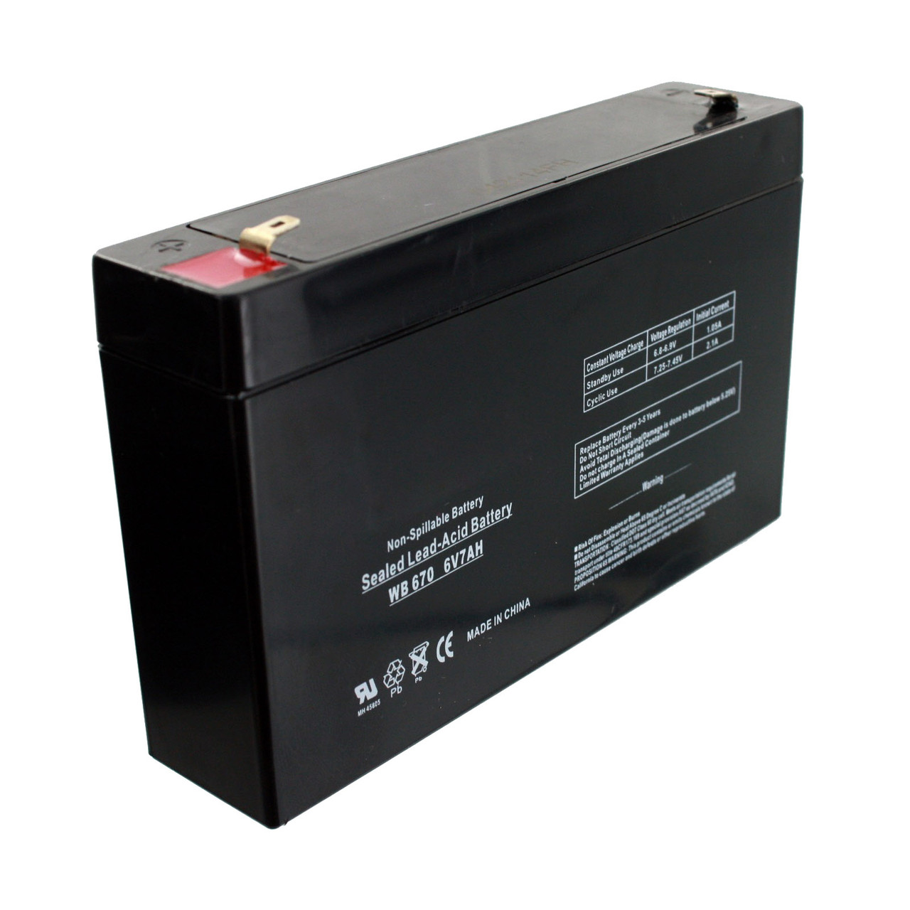 Аккумулятор 6v 7Ah для детских машин