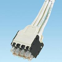 PANDUIT QPPCCWDW3M QuickNet™ Претерминированная медная кабельная сборка, 8 патч-кордов UTP, Cat.6, кассета на