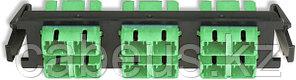 Siemon RIC-F-SCA12-01 Quick-Pack Панель,12 волокон, SC/APC , зеленые адаптеры, цвет черный, керамическая