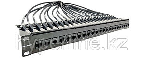 """Siemon MX-K-C6-IL-24 MAX In-Line Панель 19"""", 24 проходных адаптера RJ-45, категория 6, UTP, 1U, черная"""
