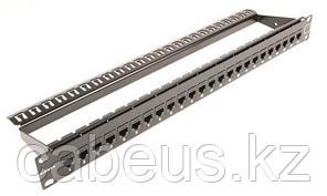 """Siemon MX-K-C5-IL-24 MAX In-Line Панель 19"""", 24 проходных адаптера RJ-45, категория 5e, UTP, 1U, черная"""