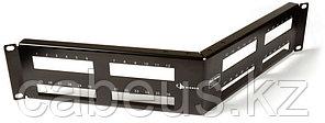 """Siemon MX-PNLA-48 Панель угловая 2U в 19"""" стойку на 48-MAX модуля, черная"""