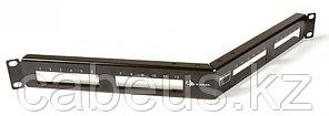 """Siemon MX-PNLA-24 Панель угловая 1U в 19"""" стойку на 24-MAX модуля, черная"""