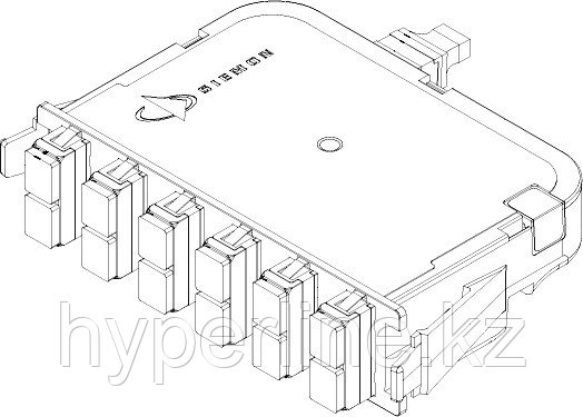 Siemon PP2-12-SC5V-01 Модуль оптический PLG&PLY, 12 портов SC, 550 XGLO 50/125 (MM), OM4, для шкафов RIC3, FCP3, SWIC3, черный