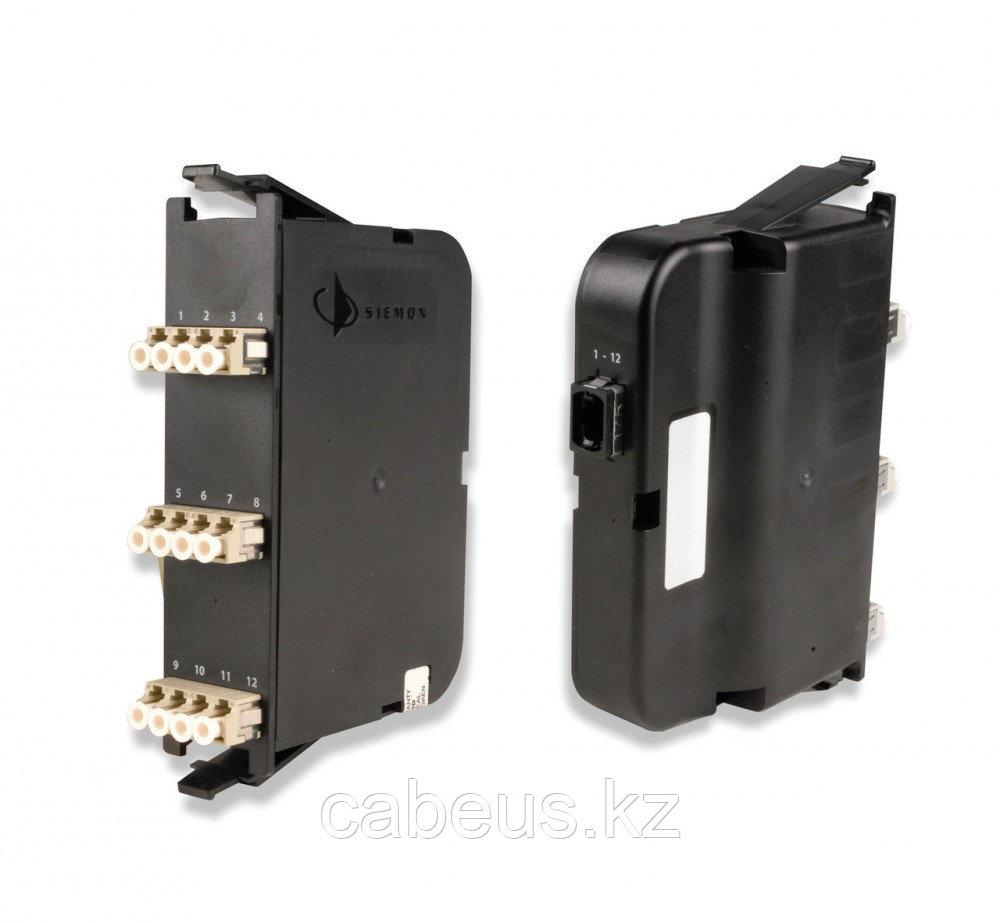Siemon PP2-12-LC5L-01 Модуль оптический PLG&PLY, 12 портов LC, XGLO 300 50-125(MM), OM3, для шкафов RIC3, FCP3, SWIC3, черный