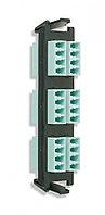 Siemon RIC-F-LCQ24-01C Quick-Pack Панель с 6 LC quadro адаптерами, 24 волокна, многомод, цвет адаптеров аква (для RIC3, SWIC3, FCP3)